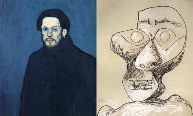 Фото №1 - 14 автопортретов Пабло Пикассо: от 15 до 90 лет
