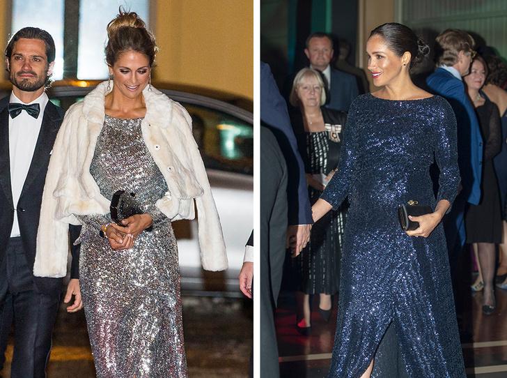 Фото №1 - Принцесса Мадлен выбирает платье, как у герцогини Меган (и сияет ярче всех)