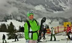 Елена Кулецкая проводит каникулы в Австрии