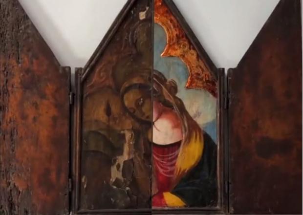 Фото №1 - Как выглядит работа реставратора живописи (видео)