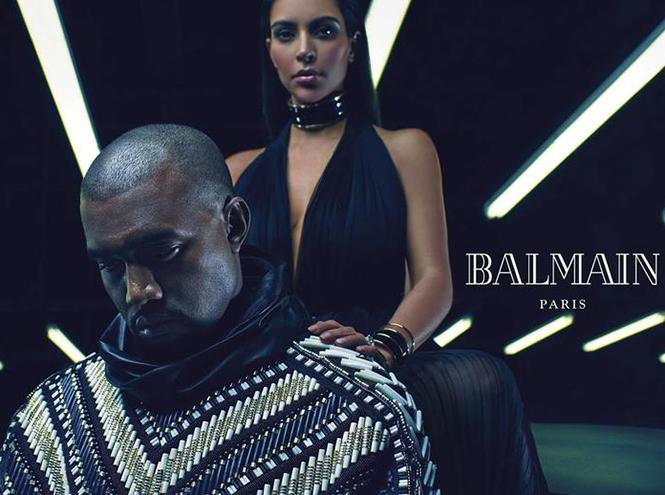Фото №4 - Канье Уэст и Ким Кардашьян представят коллекцию Balmain