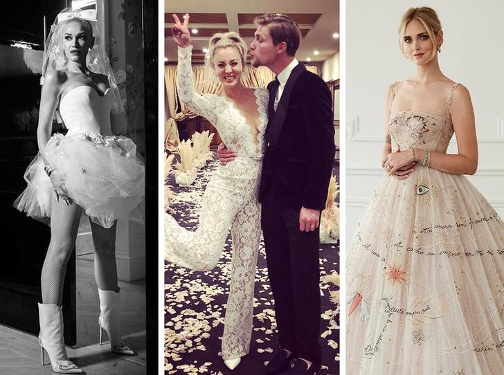 Фото №1 - Самые красивые и необычные вторые свадебные платья звезд