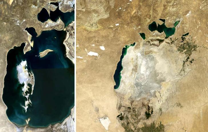 Фото №1 - Почему обмелело Аральское море?