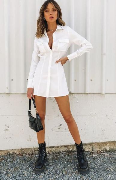 Фото №4 - Платье-рубашка: 5 самых модных луков на разные случаи жизни