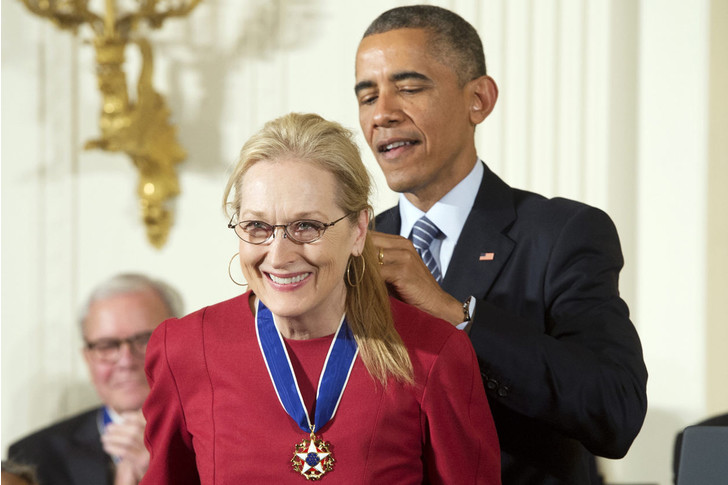 Мерил Стрип и Барак Обама