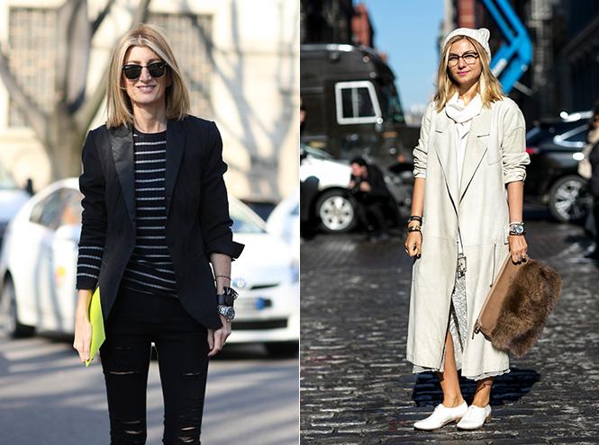Street-style с недели моды в Милане и Нью-Йорке