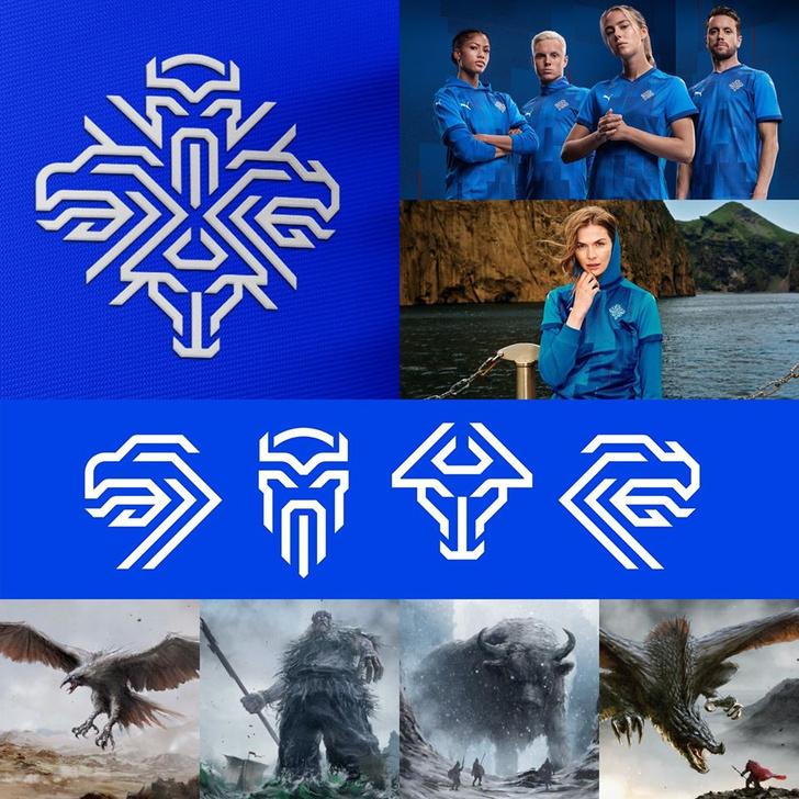 Фото №2 - Что зашифровано в новом логотипе сборной Исландии по футболу