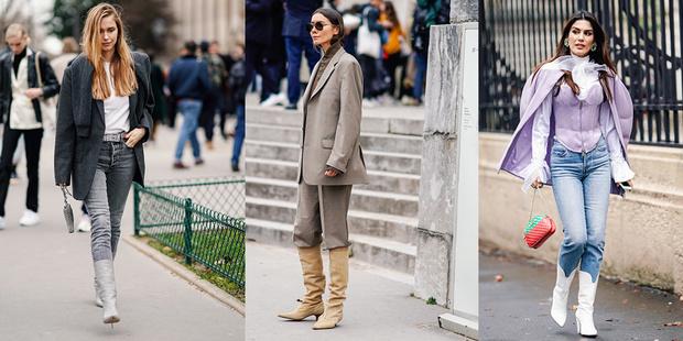 Фото №1 - Необычный тренд: заправляй брюки в сапоги как королева street-style