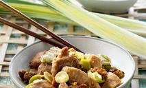 Кантонская курица с имбирно-луковым соусом