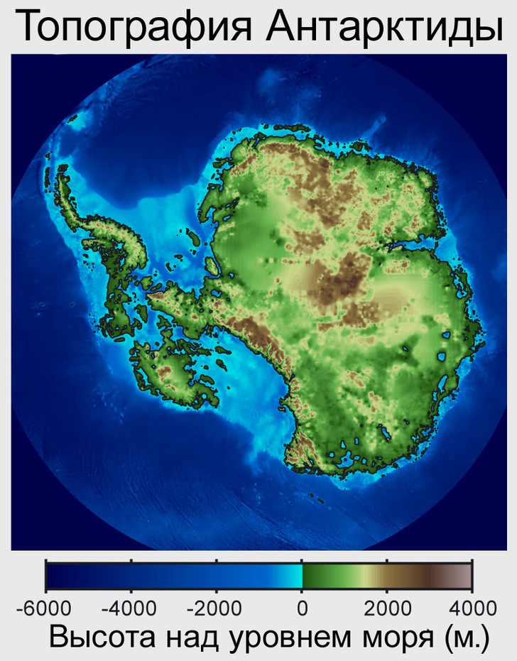 Фото №2 - Карта. Как выглядела бы Антарктида безо льда