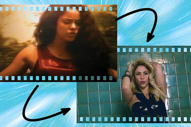 Шакира в клипах Estoy Aquí и Dare (La La La)