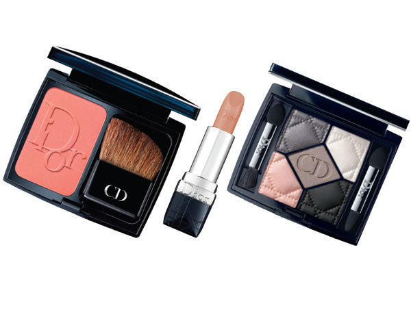 Румяна Diorblush, № 553; помада Rouge Dior, № 123 Trompe L'Oeil; тени 5 Couleurs, Bar, все – Dior