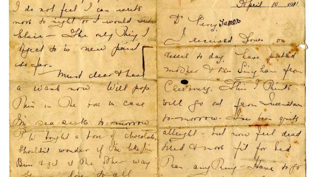 Фото №1 - Письмо с «Титаника» будет продано на аукционе