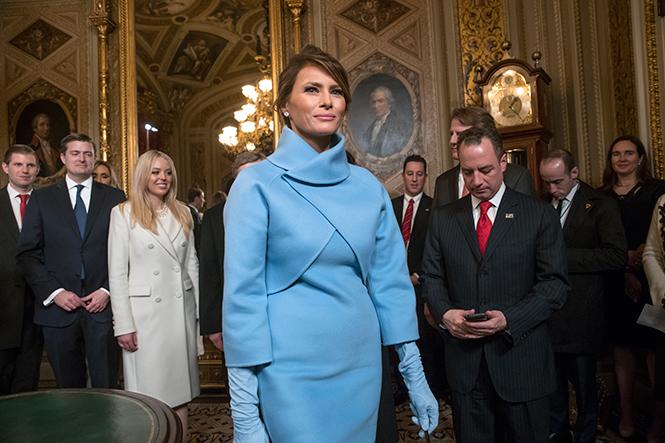 Фото №1 - Рождение fashion-звезды: Мелания Трамп на инаугурации