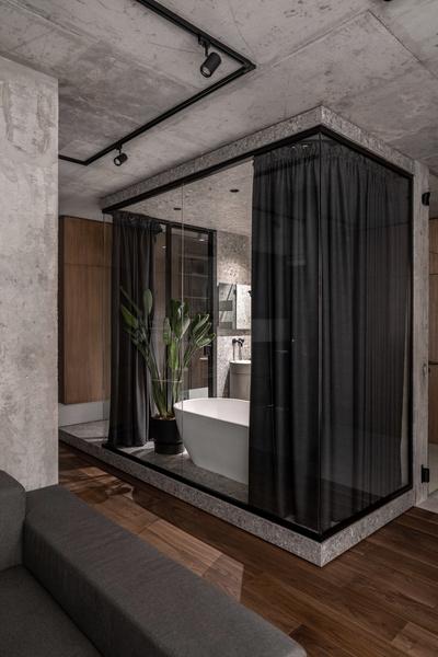 Фото №17 - Брутальная квартира 82 м² с ванной за стеклом