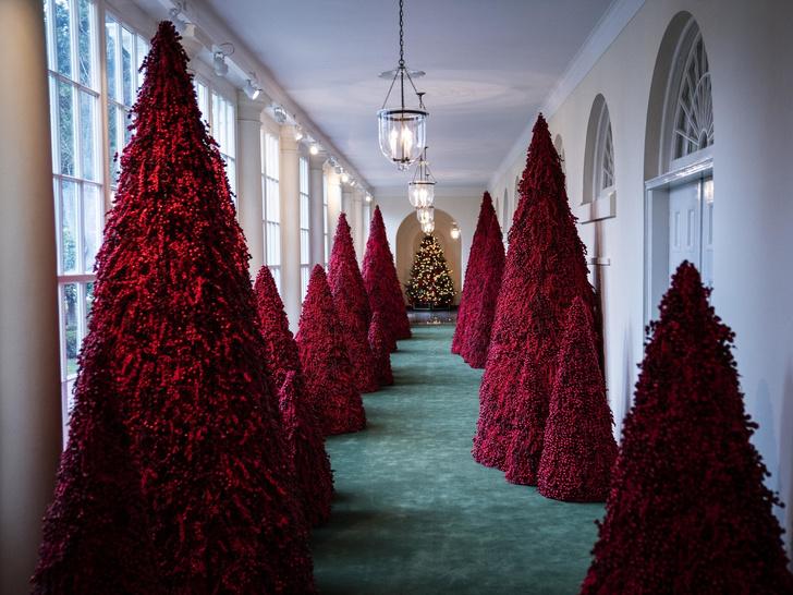 Фото №6 - Последнее Рождество в Белом доме: что Мелания Трамп хотела сказать новогодними декорациями