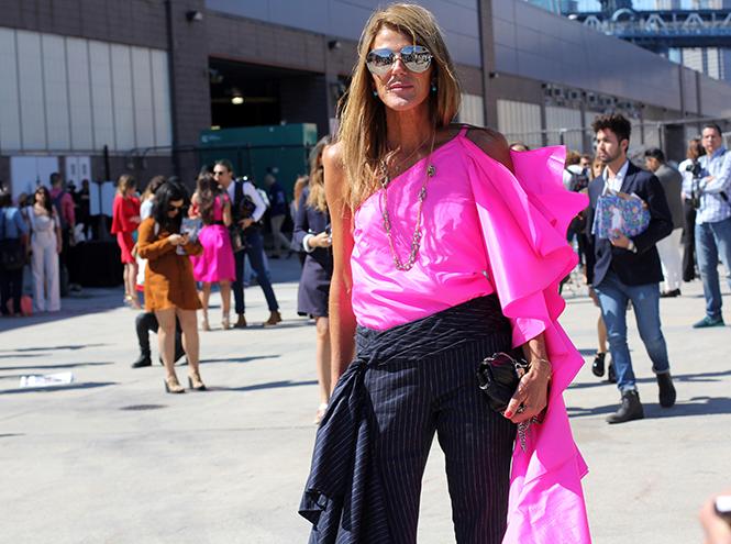 Фото №1 - Неделя моды в Нью-Йорке: streetstyle пятого дня