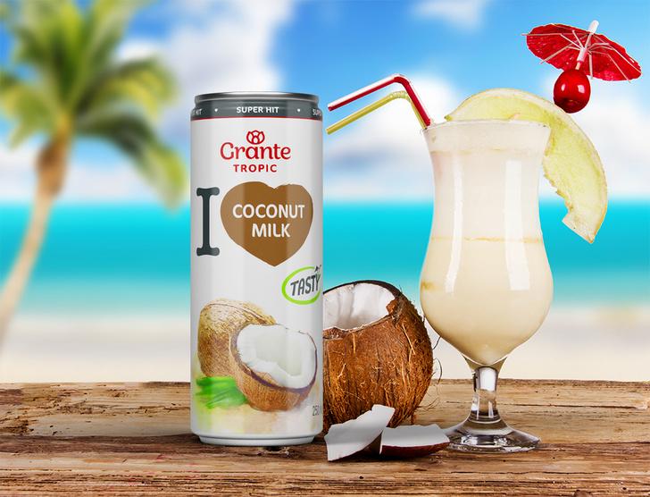 Фото №1 - Grante выпустил линейку экзотических 100% соков Tropic для всех, кто мечтал о кокосовом молоке и воде из тропиков!