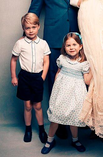 Фото №7 - Просто «ах!»: малыши Кембриджи, Кейт, Меган и остальные в официальной фотосессии с крестин