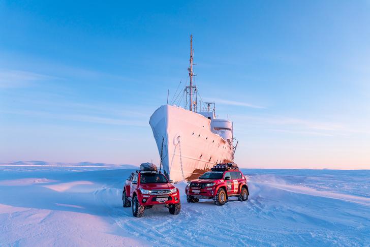 Фото №1 - На автомобилях к Новосибирским островам по Северному Ледовитому океану