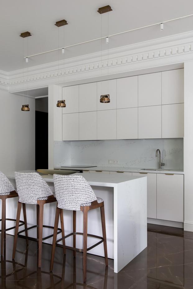 Фото №6 - Белый плюс ваниль: московская квартира 145 м²