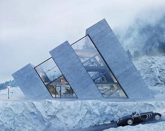 Фото №1 - Архитектура: дома в форме логотипов известных компаний (галерея)