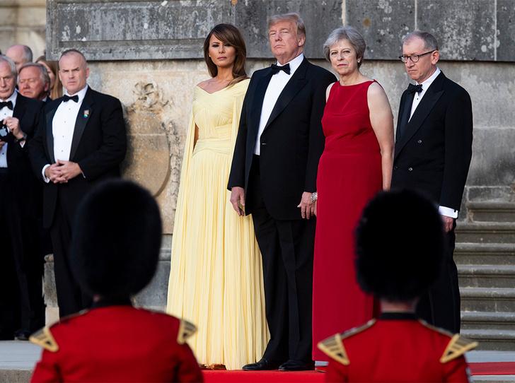 Фото №10 - Мелания Трамп «украла шоу» на гала-ужине в Бленхеймском дворце