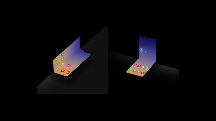 Фото №1 - Samsung представила концепт смартфона «раскладушки-пудреницы»