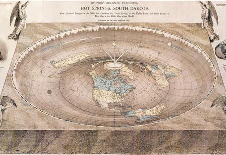 10 самых известных карт плоской Земли