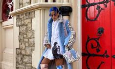 Плюшевая шуба + сапоги с «запрещенным» принтом: Сита Абеллан вновь удивляет fashion-находками