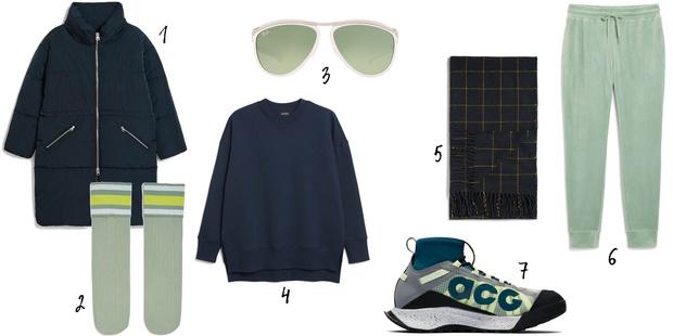 1, 2, 4, 5, 6. Monki, 3. Ray Ban, 7. Nike