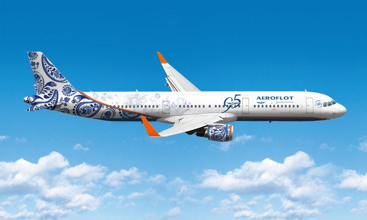 Фото №1 - «Аэрофлот» раскрасит свой Airbus под гжель
