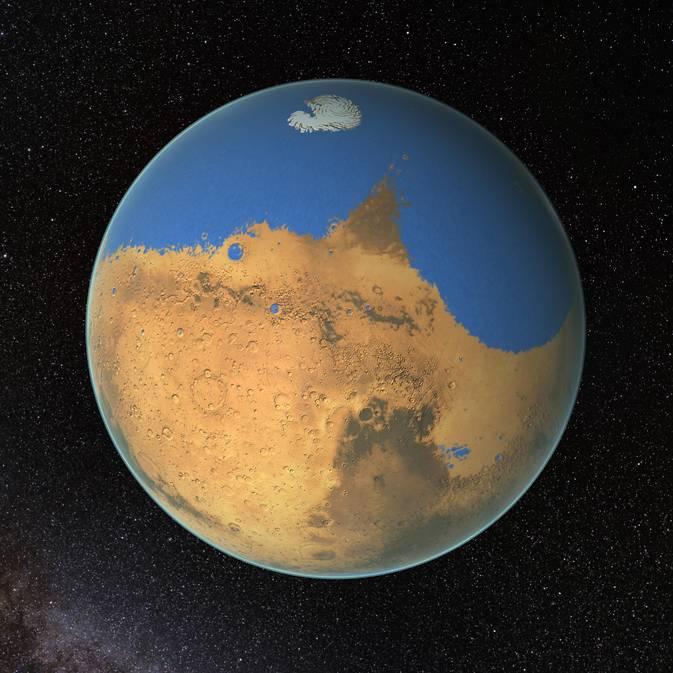 Фото №1 - На Марсе существовал океан, превосходящий по размерам Северный Ледовитый