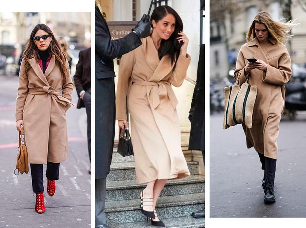 Фото №1 - Главная покупка сезона: где искать классическое бежевое пальто, как у Меган