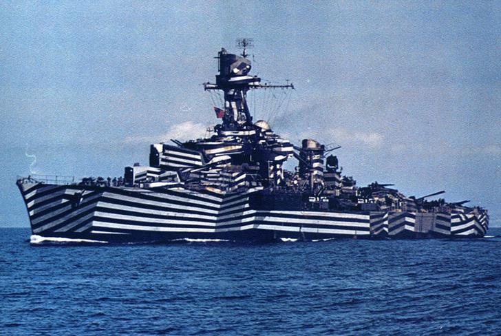 Фото №1 - Почему военные корабли раньше красили в кубическом стиле
