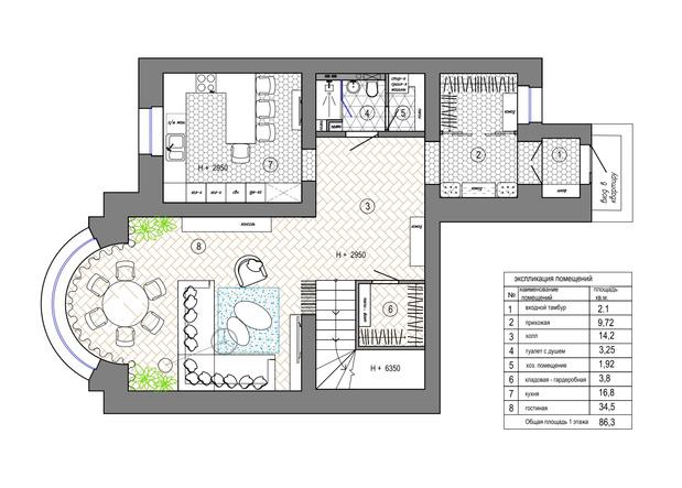 Фото №16 - Квартира 183 м² для семьи путешественников в Екатеринбурге