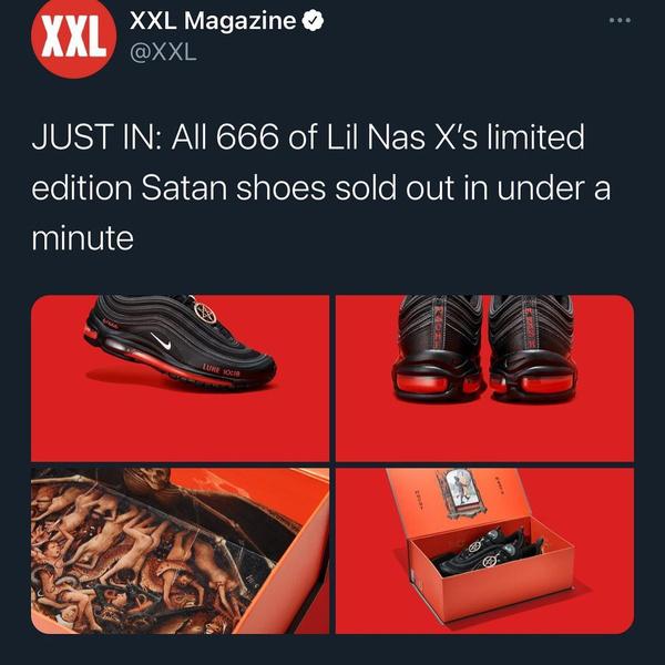 Фото №1 - Nike собирается засудить «дьявольские» кроссовки Lil Nas X