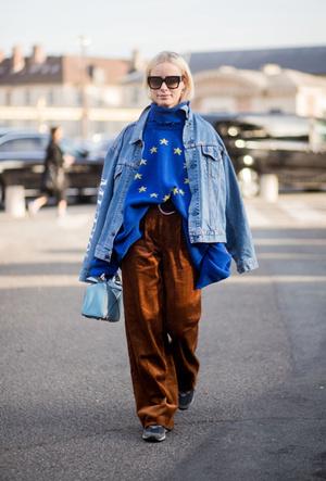 Фото №17 - Ткань голубых кровей: как носить вельвет этой зимой