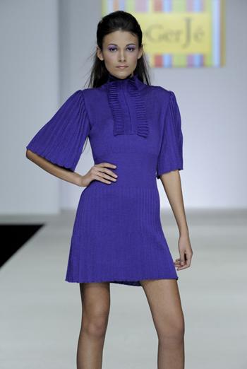 Трикотажное платье гофре марки LeGerJe.