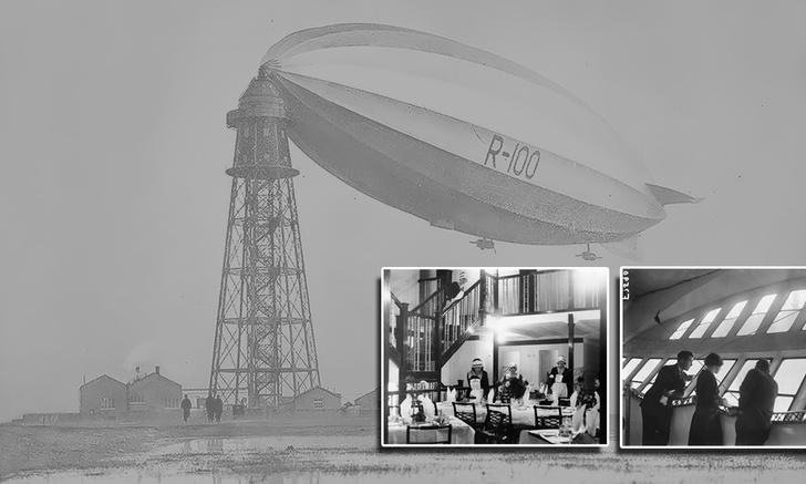 Фото №1 - Как выглядел изнутри роскошный дирижабль 1929 года