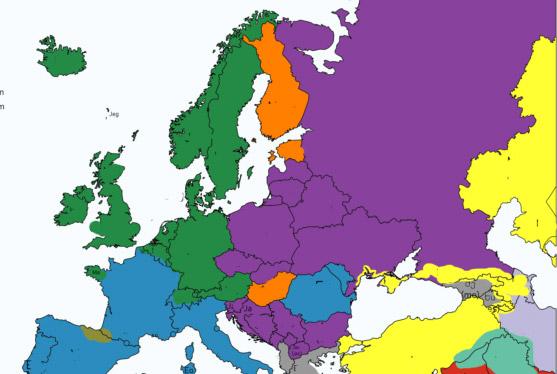 Фото №1 - Карта: как звучит местоимение «я» в разных странах Европы