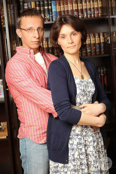 Оксана Арбузова с мужем Иваном Охлобыстиным
