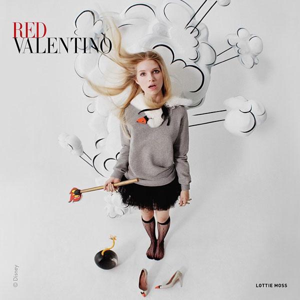 Лотти Мосс в рекламной кампании Red Valentino осень-зима 2014