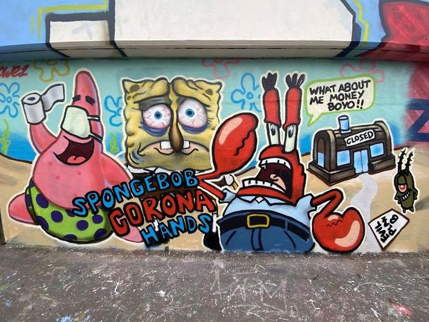 Фото №13 - 20 граффити со всего мира, навеянные коронавирусом