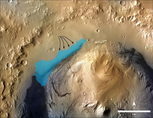 Фото №1 - Большое открытие: на Марсе найдено озеро