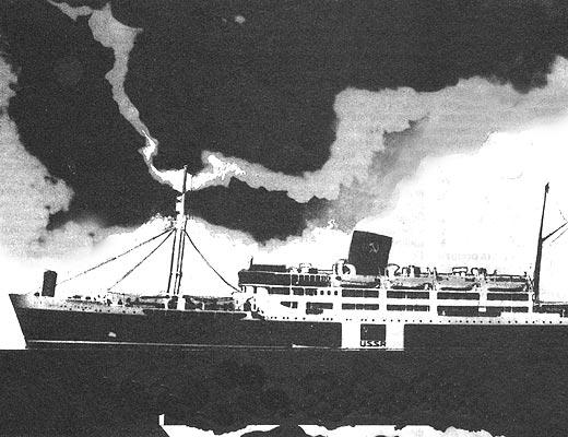 Фото №1 - Что произошло с лайнером «Иосиф Сталин»?