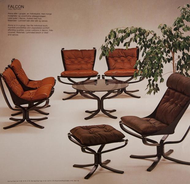 Кресла Falcon в каталоге Vatne, 1970-е годы.
