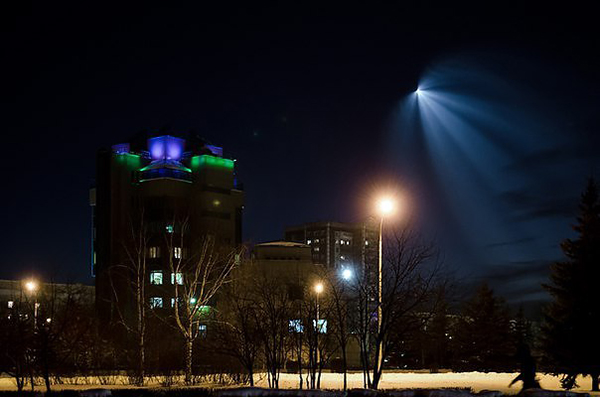 Фото №1 - В Новокузнецке сняли запуск ракеты с Байконура