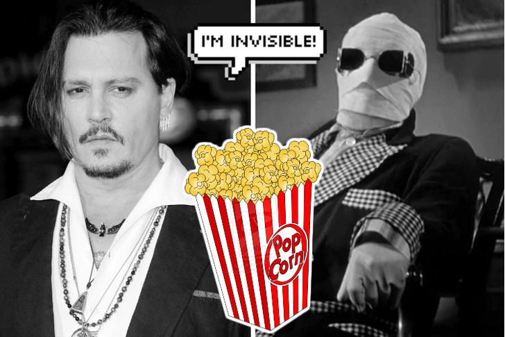 Джонни Депп, кадр из фильма «Человек-невидимка»
