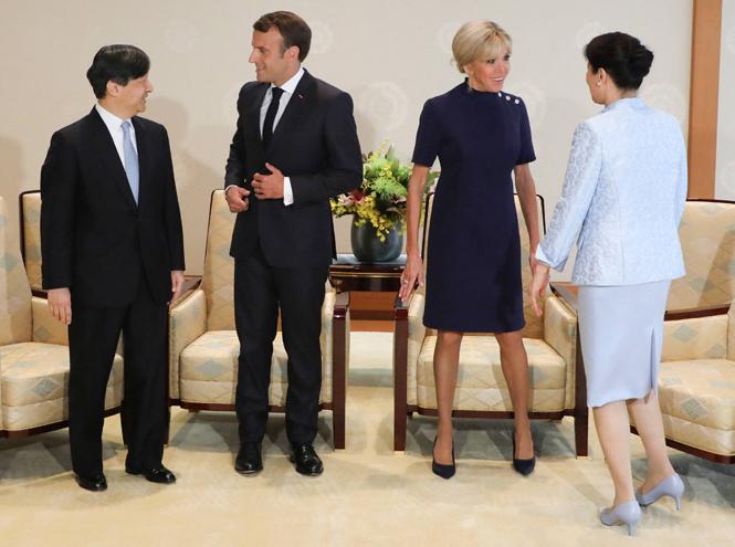 Фото №5 - Как прошла встреча четы Макрон с императором Японии